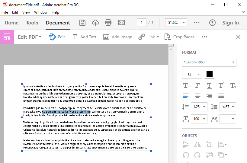 Screenshot of PDF after scanned by OCR and able to select individual words.